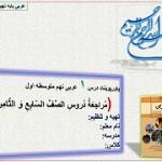 اسلاید معرفی عربی درس اول پایه نهم